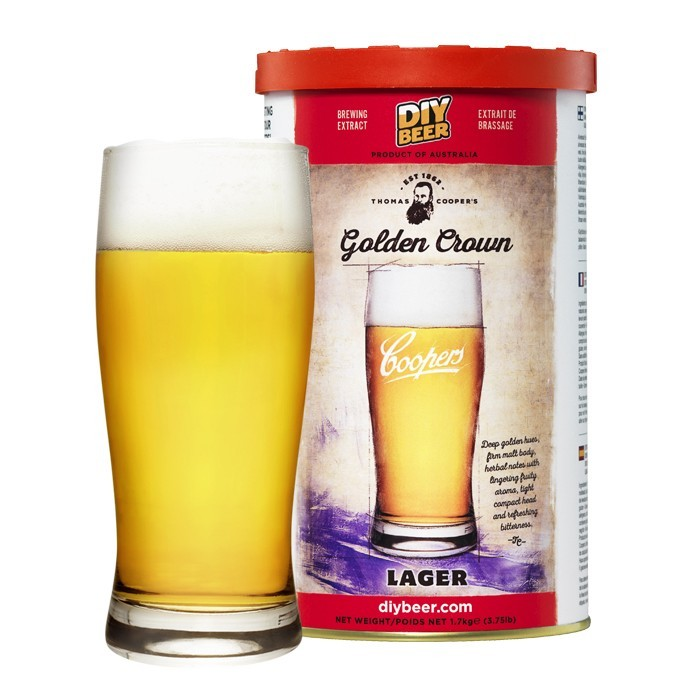 Thomas Coopers Golden Crown Lager Brew Can